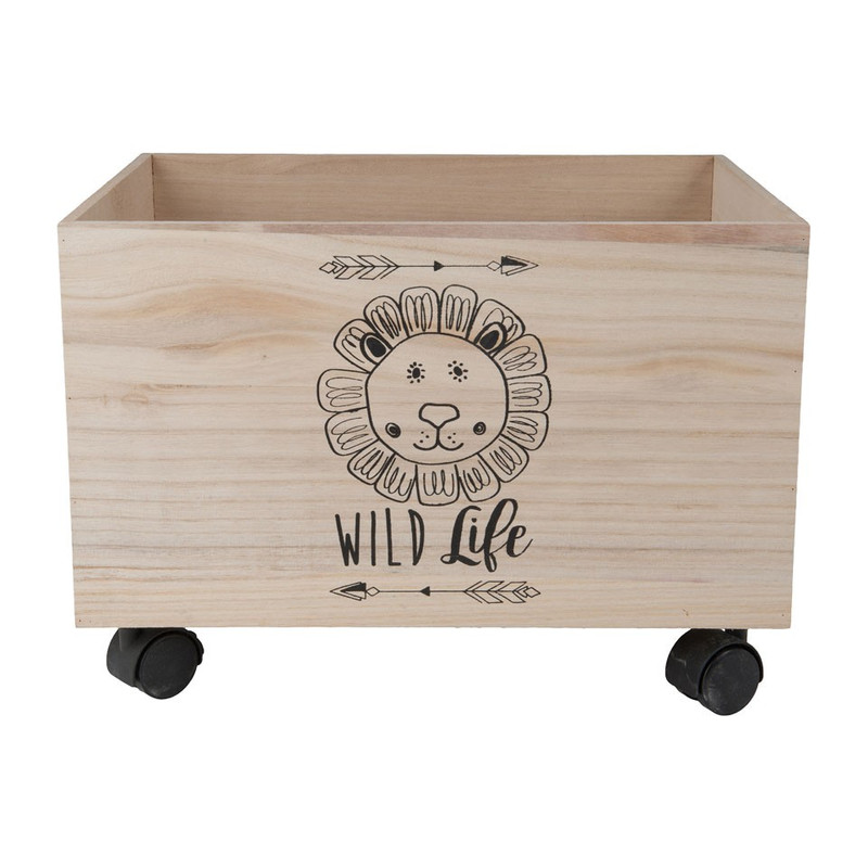 Speelgoedkist leeuw - 40x30x28 cm