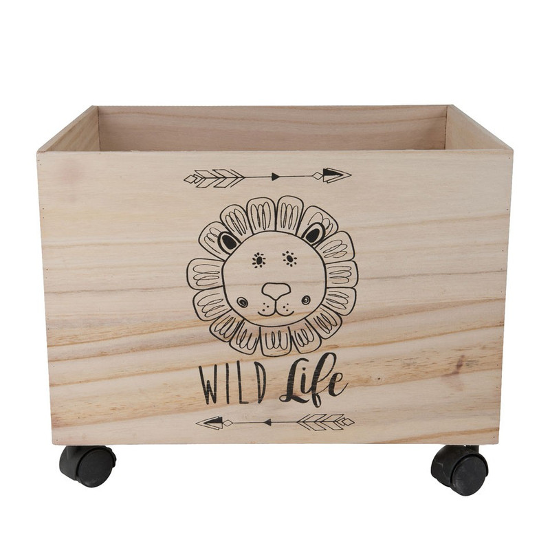 Speelgoedkist leeuw - 44x34x35 cm