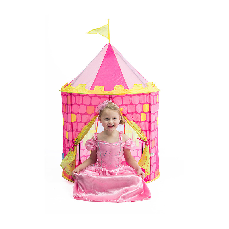 Pop-up speelgoedtent - prinsessen kasteel - ⌀80x110 cm