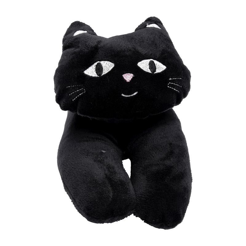 Tochtstrol kat - zwart - 96 cm