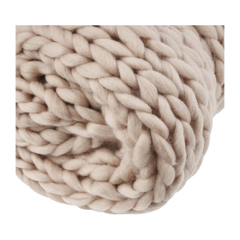 Plaid grof gebreid - roze - 160x130 cm
