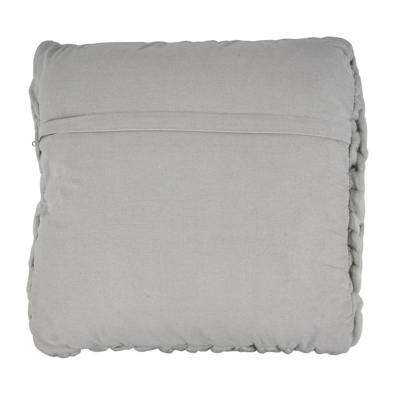 Kussen grof gebreid - grijs - 45x45 cm