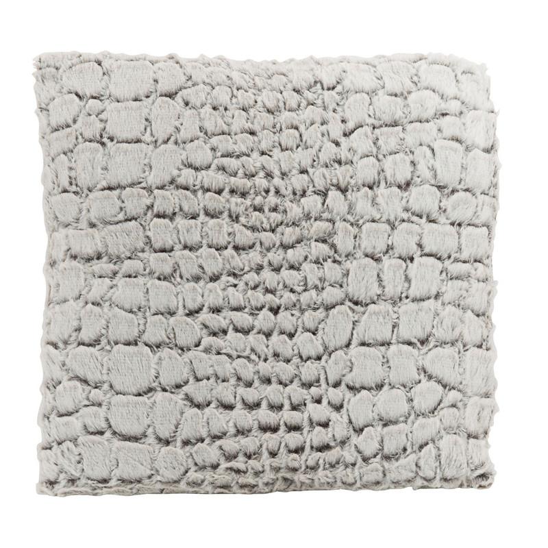 Kussen dierenvacht - 45x45 cm - bruin/wit