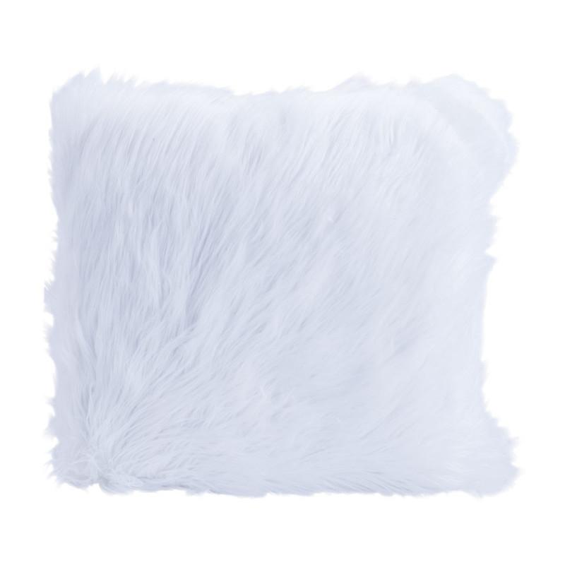 Kussen witte vacht - 45x45 cm