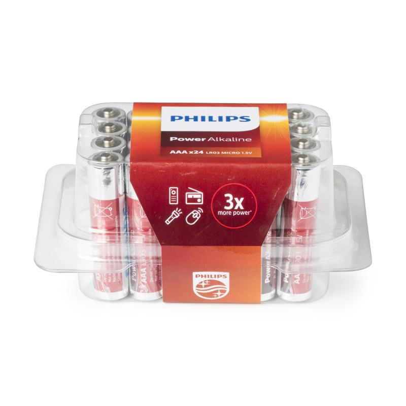 Philips batterijen AAA - 24 stuks