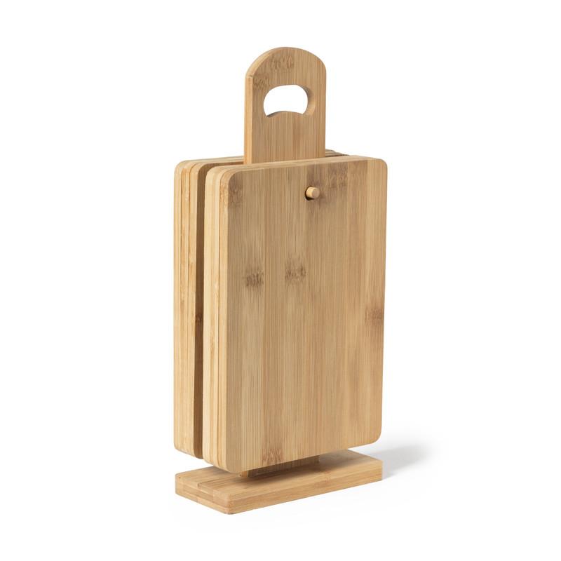 Ontbijtplankjes op standaard - 34x15x6,5 cm - 6 stuks