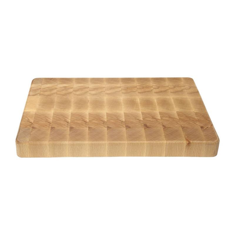 Snijplank kopsgezaagd hout - 25x35 cm