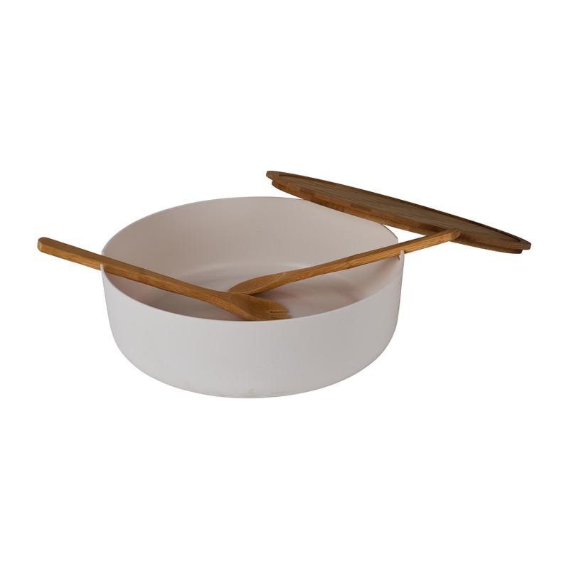 Saladeschaal XL met bestek - ⌀ 30 cm