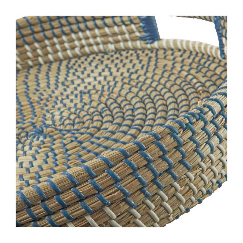 Dienblad zeegras - wit/blauw - 40 cm