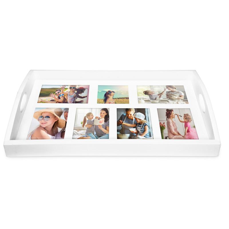 Dienblad voor foto's XL - wit