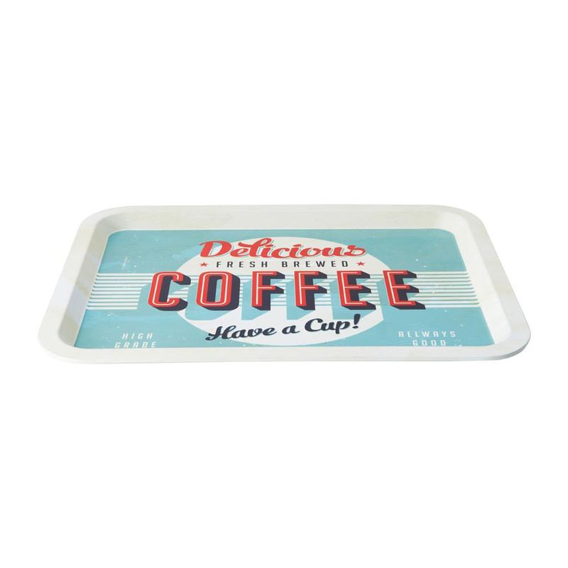 Dienblad metaal - coffee
