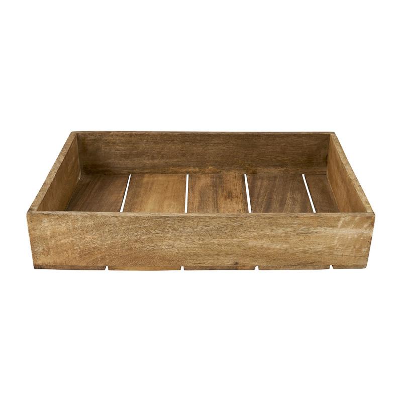 Tray met grepen - mangohout - 46x30x8 cm