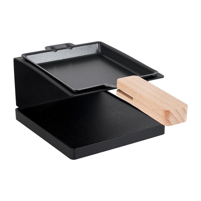 Raclette 1 persoons - zwart - metaal