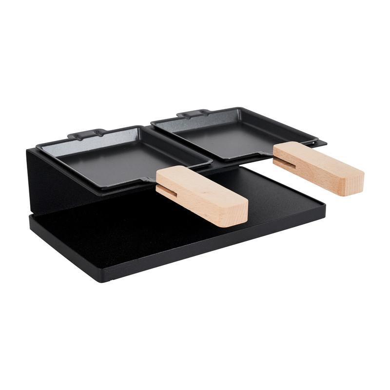 Raclette 2 persoons - zwart - metaal