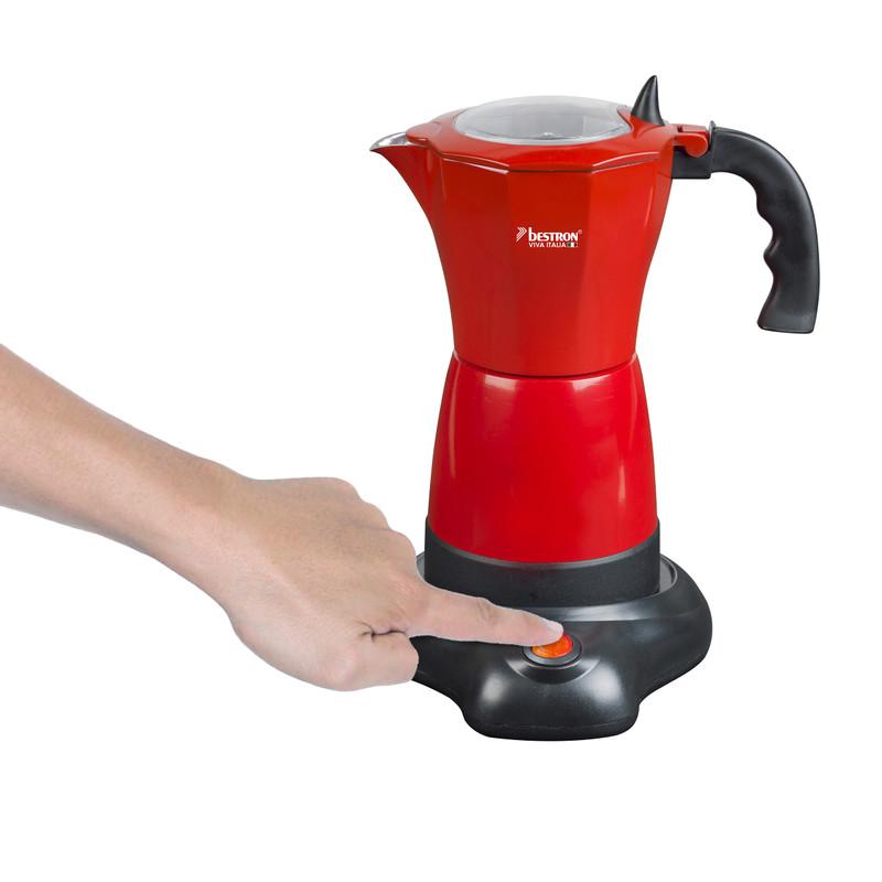 Espressomaker elektrisch - rood