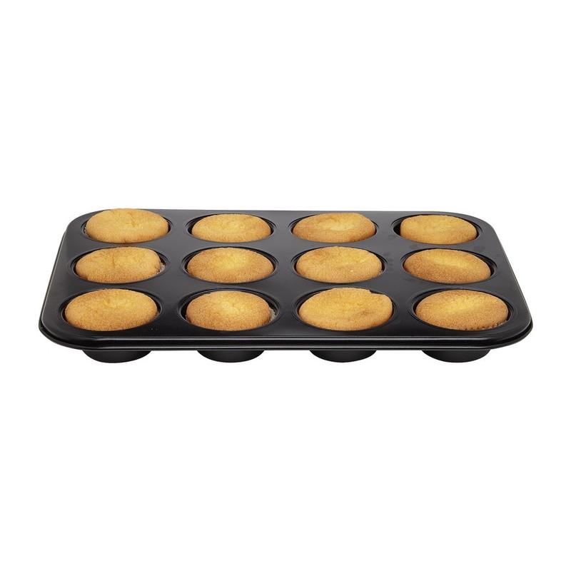 Cupcakevorm met deksel - 12 cups