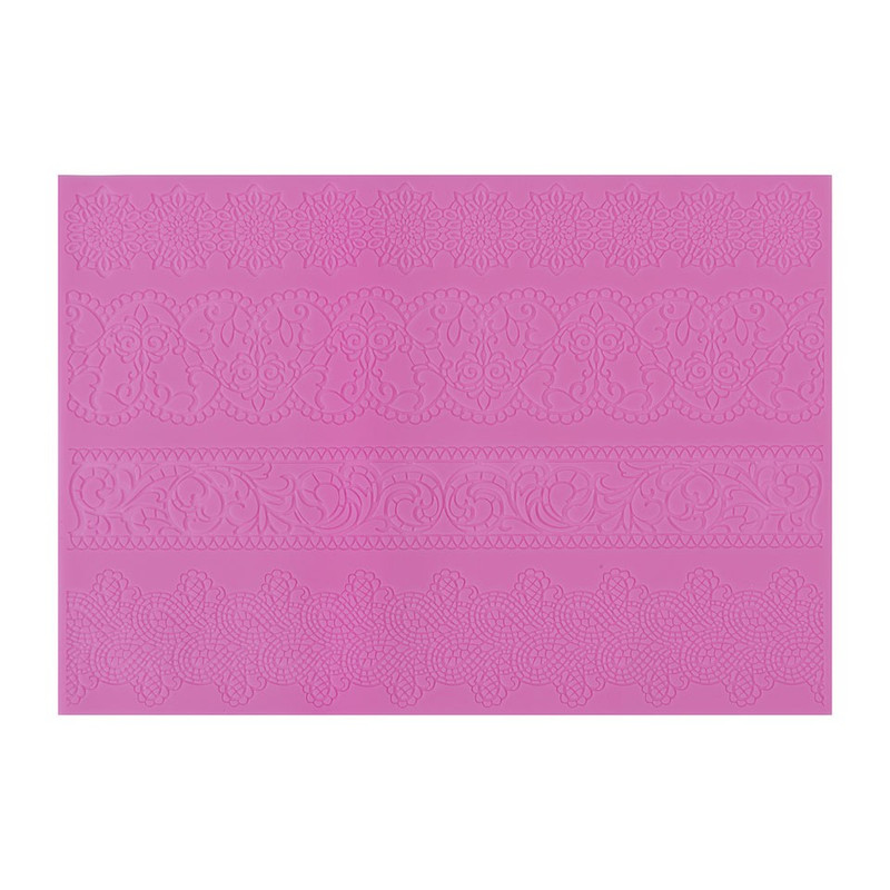 Fondant decoratiemat - fantasie - roze