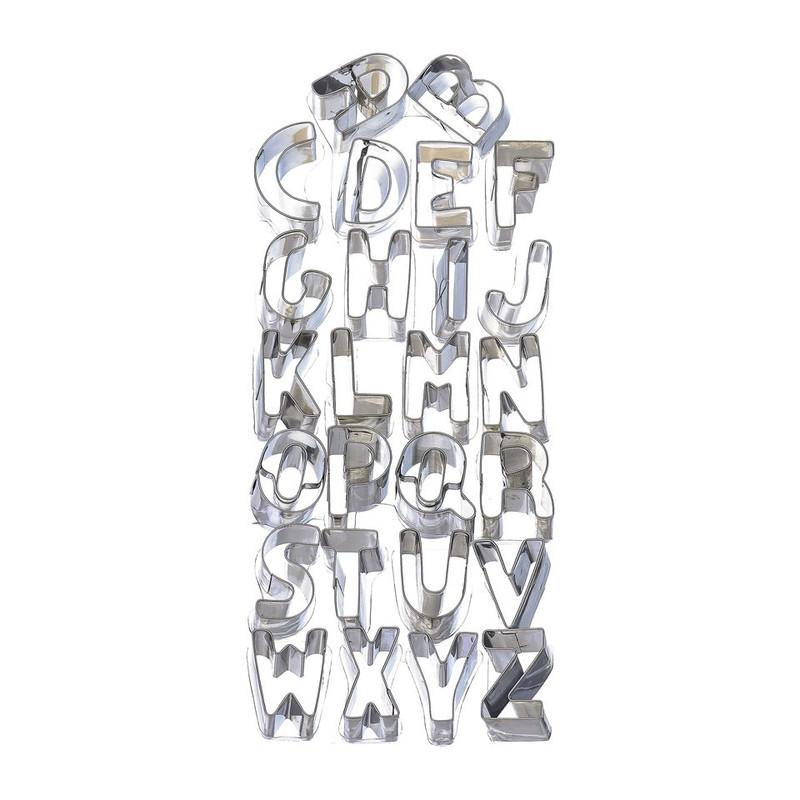 Uitsteekvormpjes alfabet - 26 stuks