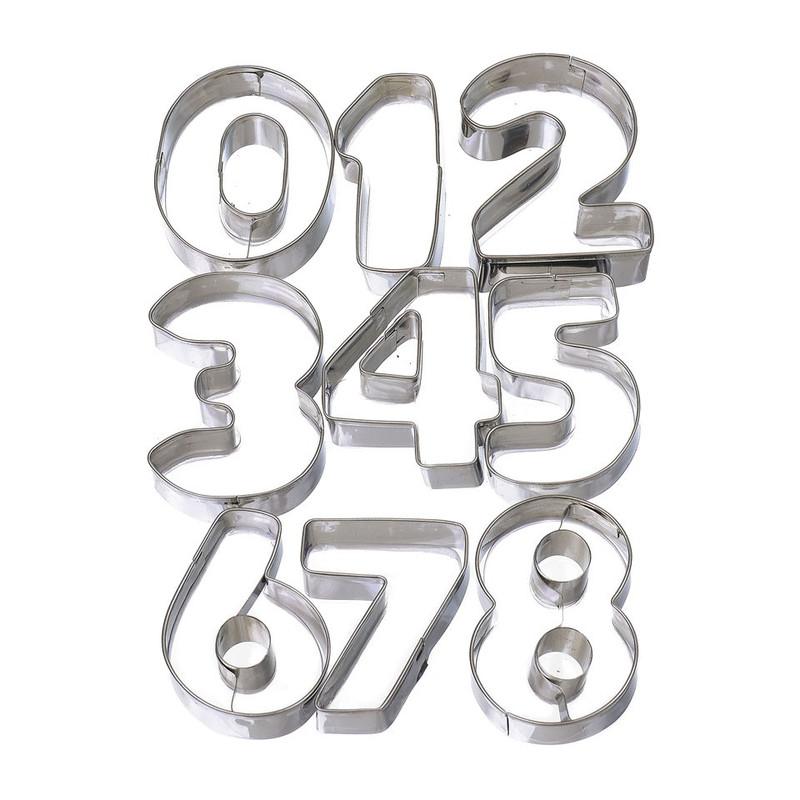 Uitsteekvormpjes cijfers - getal 0-8
