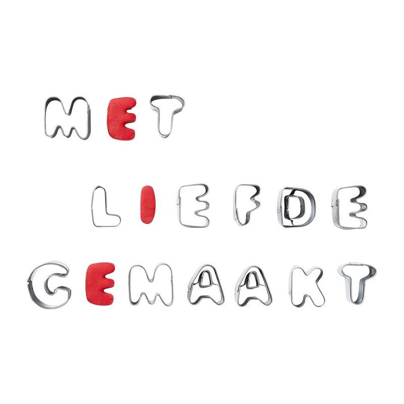 Uitsteekvormpjes alfabet