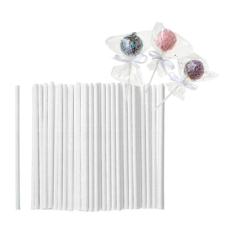 Cakepop stokjes - set van 80 - wit