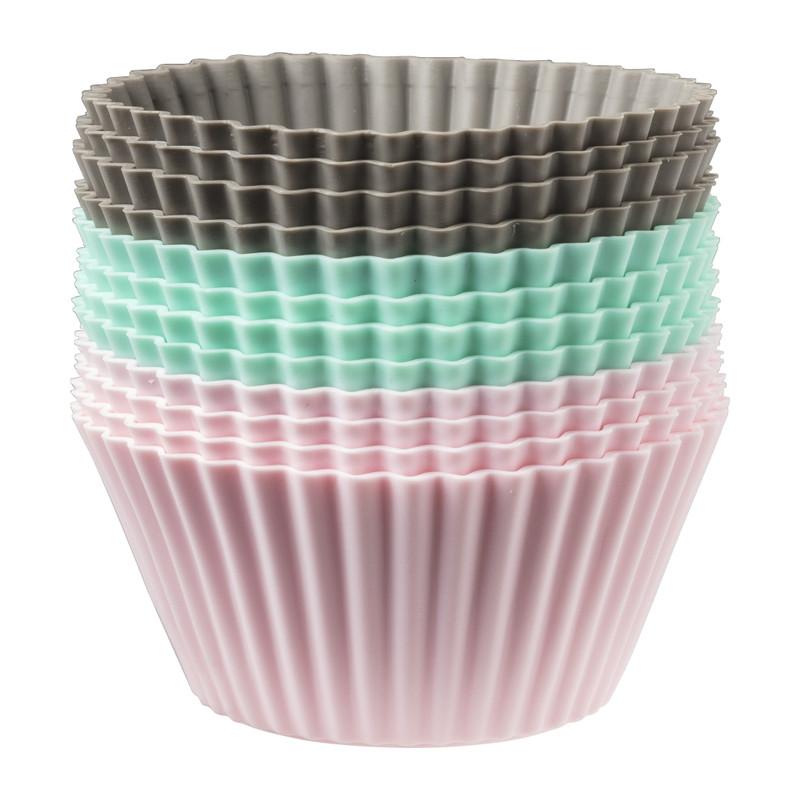 Cupcakevormpjes siliconen - set van 12