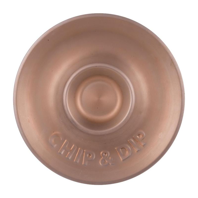 Schaal chip & dip - roségoud - 33,5 cm