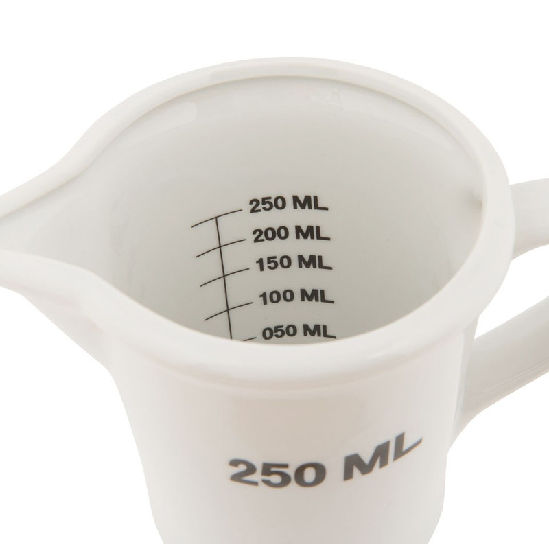 Maatbeker wit - 250 ml