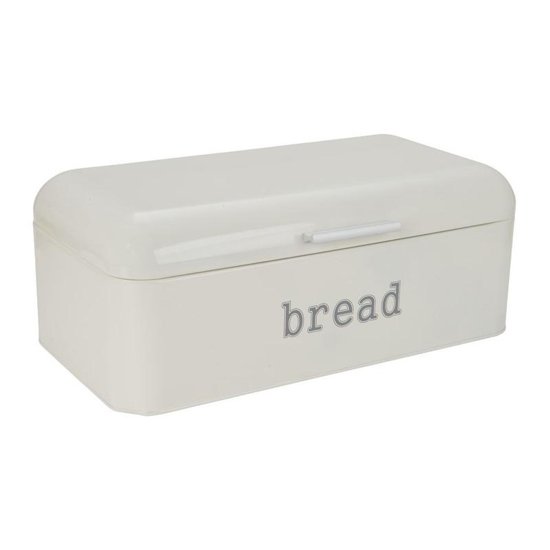 Broodtrommel retro - 22x42x16.5 cm - crème