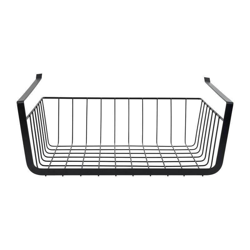 Hangmand voor onder plank - zwart - 36x25x13 cm