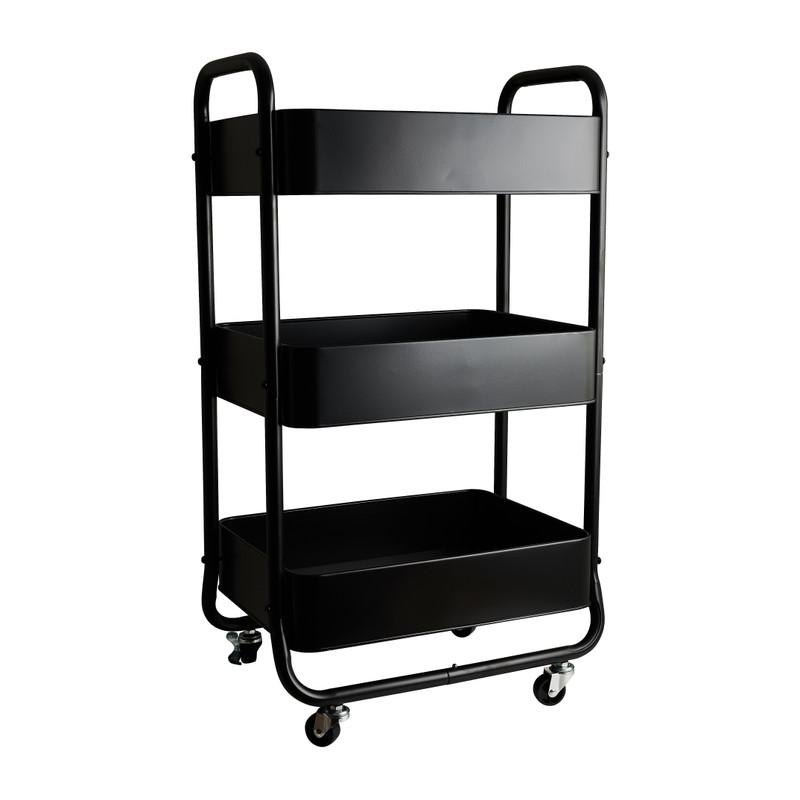 Keukentrolley - zwart - 44x30x78.6 cm