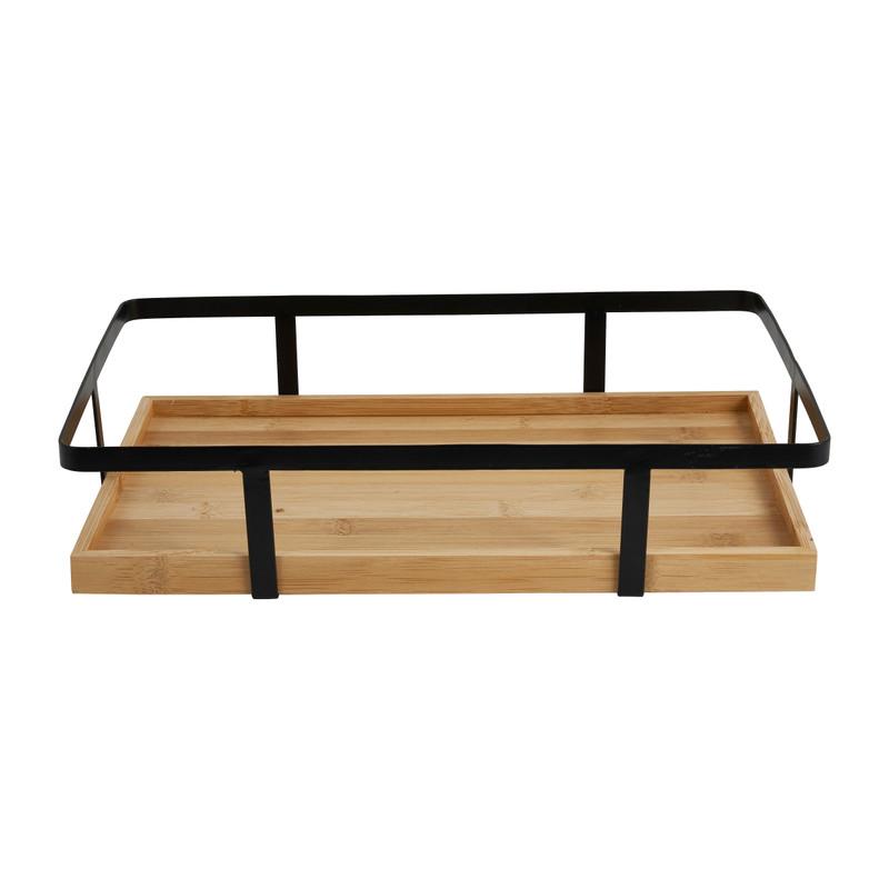 Keukenrekje bamboe - 35x22x8 cm