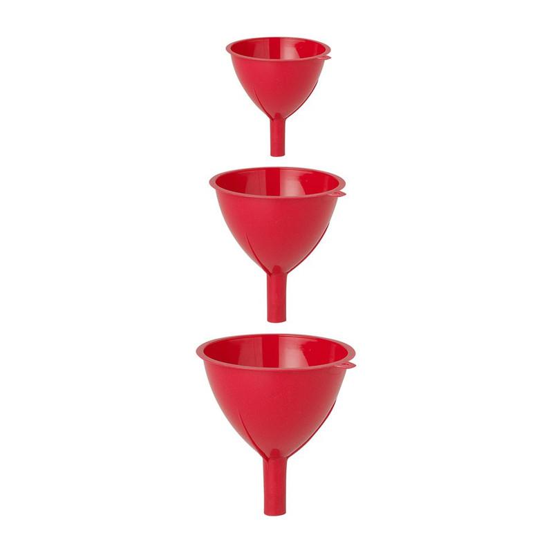 Trechter - set van 3 - rood