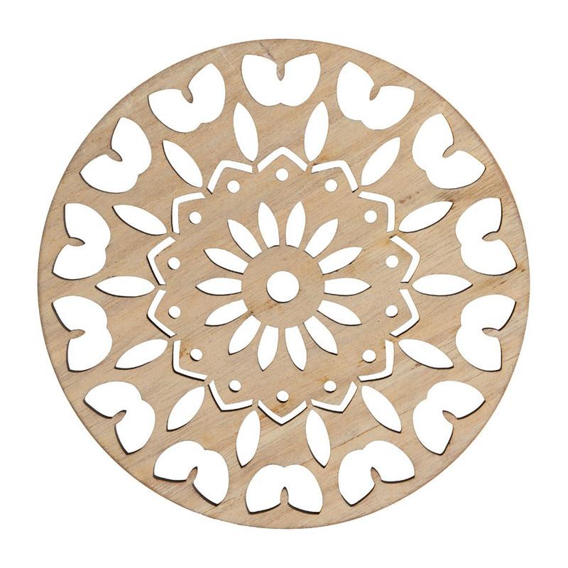 Onderzetter hout - diverse varianten - 18 cm