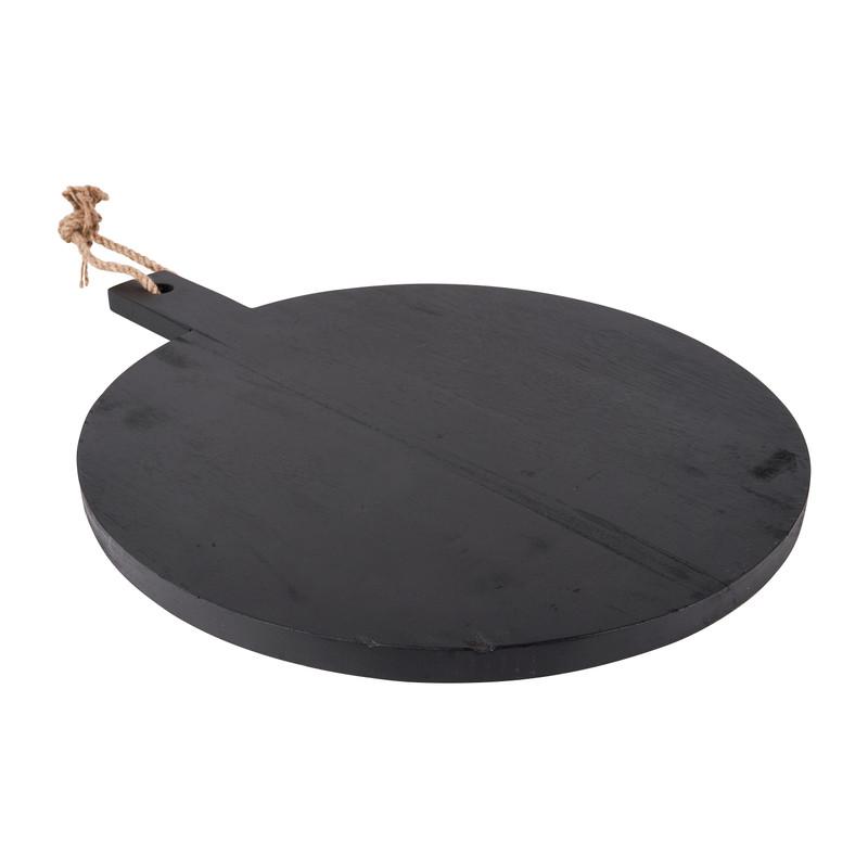 Serveerplateau rond - zwart - 50x40x2 cm