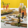 Presenteerplank van mangohout - rond - 50x40 cm