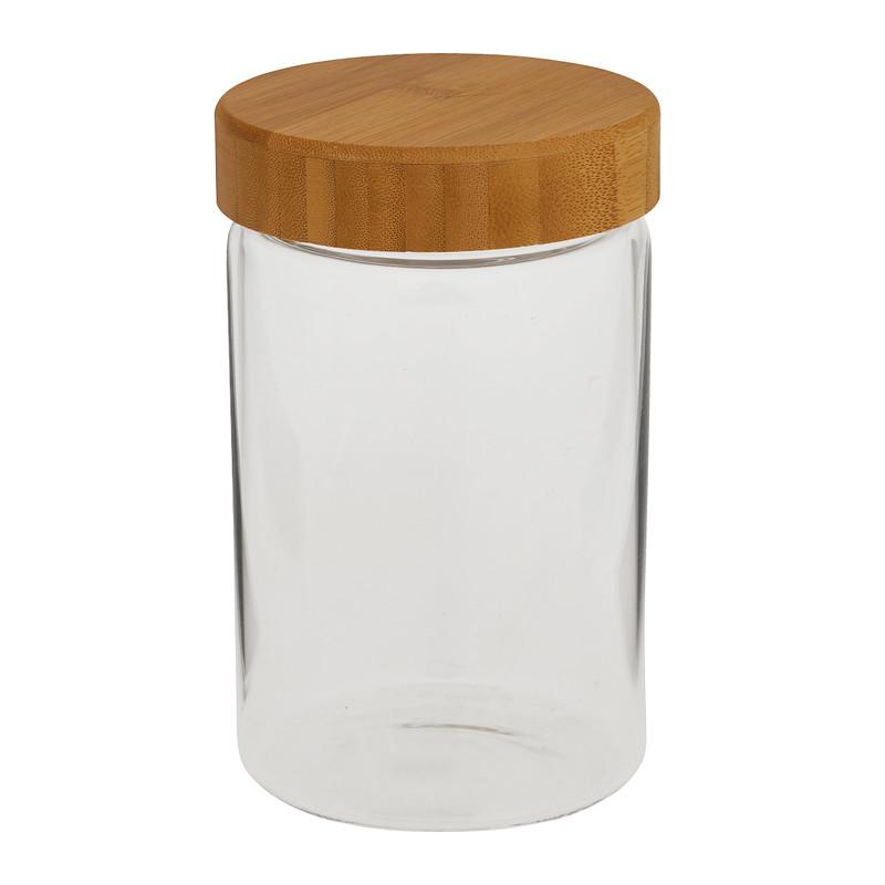 Opbergpot met bamboe deksel - 900 ml
