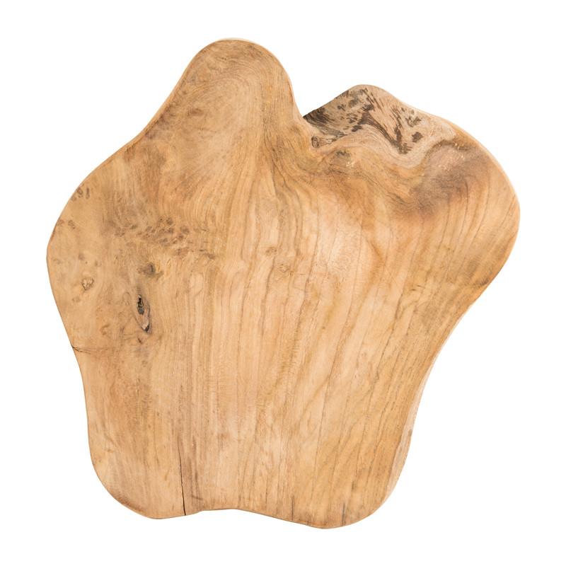 Serveerplank  - teak hout - 35x30,5x3 cm