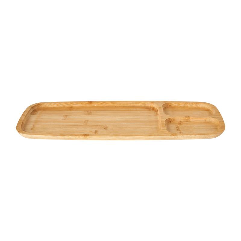 Tray bamboe - 3 vakken - 38x16x1,5 cm