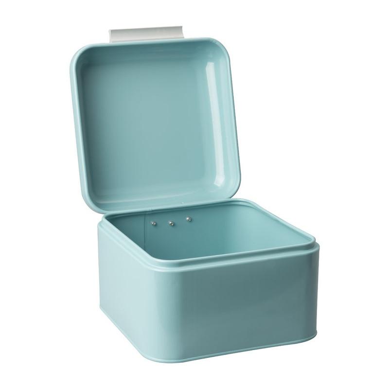 Bewaarblik retro - 20x20 cm - blauw