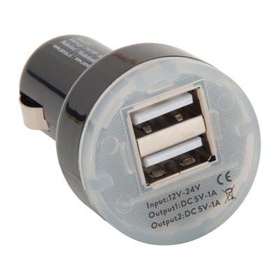 Auto oplader - 2-USB poorten