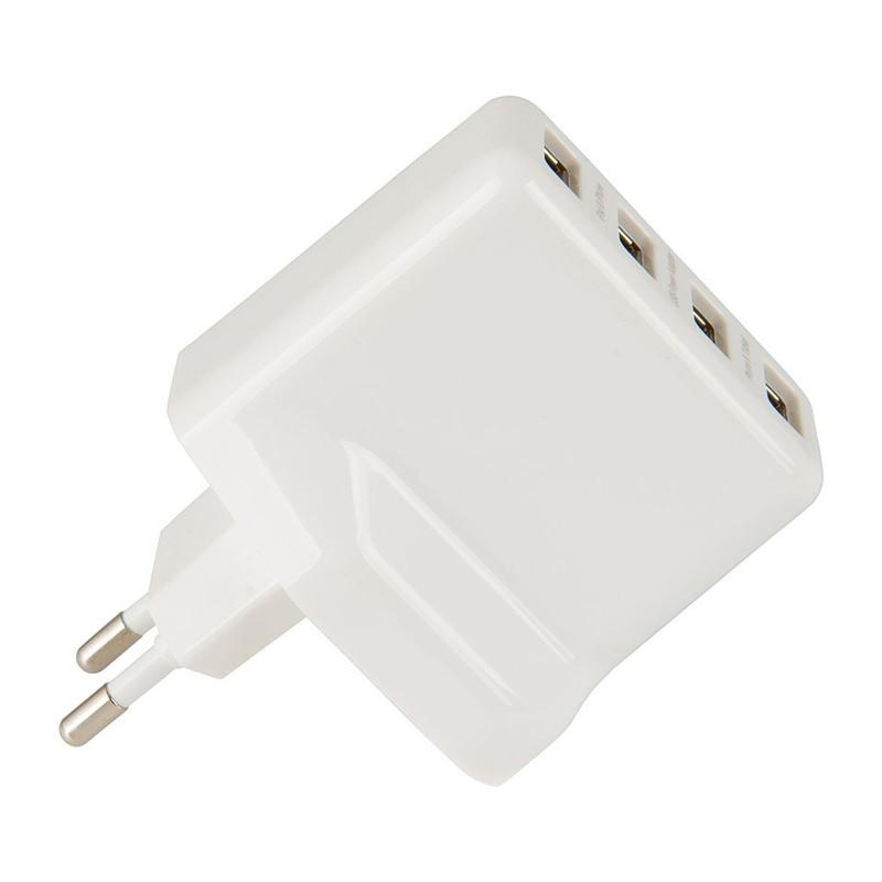 USB lichtnetadapter - 4 usb poorten