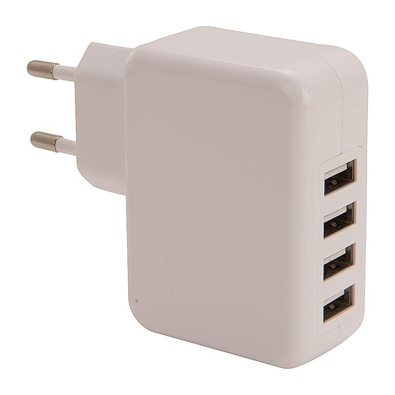 Stekker met 4 USB poorten