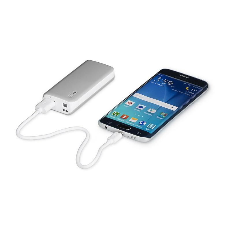 Mobiele oplader - 4400 mAh - grijs