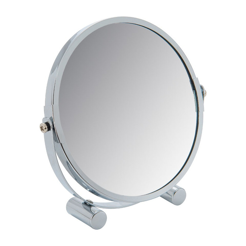 Spiegel op voetjes - zilver