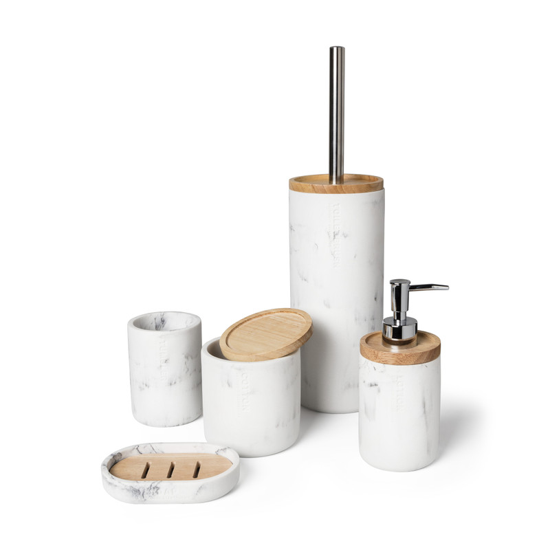 Toiletborstel marmer - wit