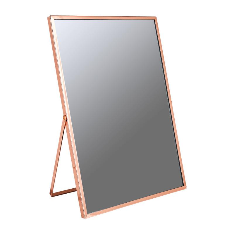 Make-up spiegeltje - koper - 20x30 cm