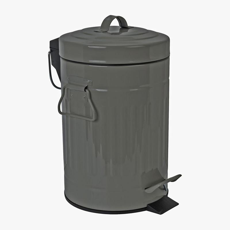 Pedaalemmer lijnen - 3 liter - grijs