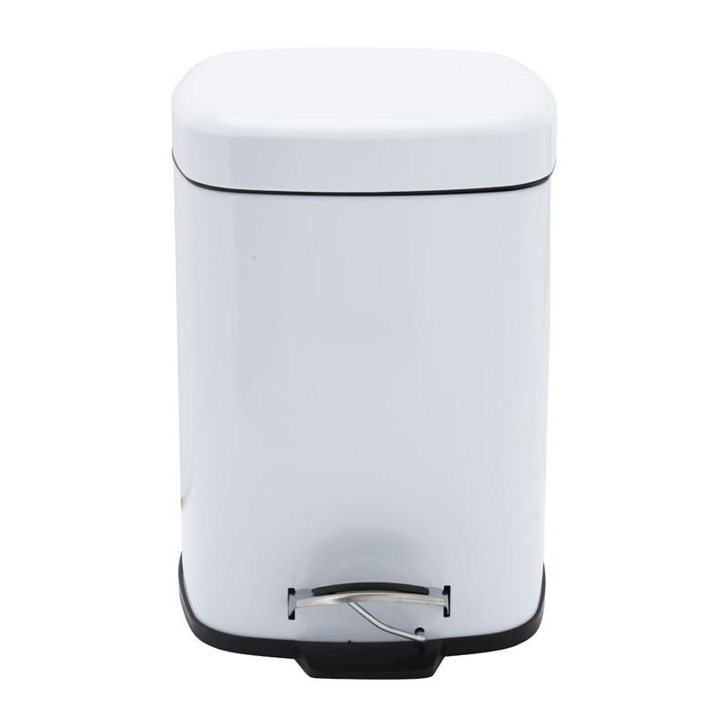 Pedaalemmer vierkant - 6 liter - wit