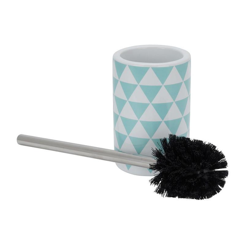 Toiletborstel wiebertje - groen/wit